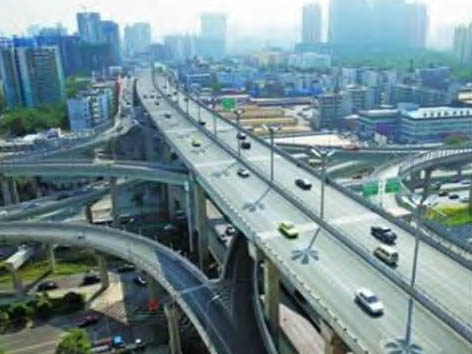 新疆乌鲁木齐城市高架桥桥面雷竞技raybet